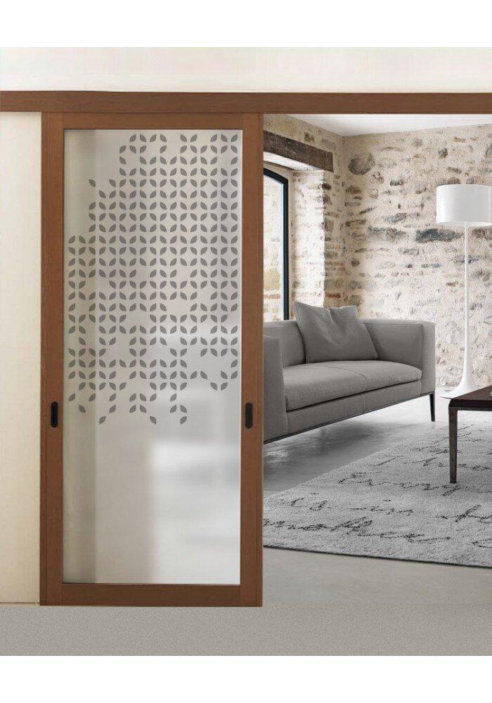 Geam decorativ pentru usa interior model minimal ii for Usa glisanta
