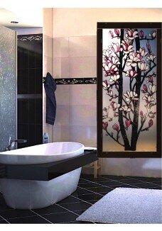 Vitraliu cu magnolii