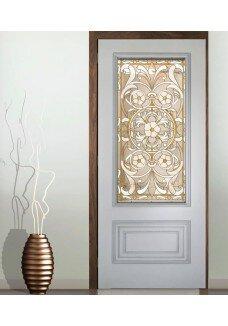 Geam decorativ tip vitraliu bronz