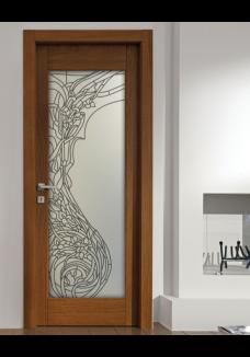 Geam mat decorativ pentru usa interioara, model Elle