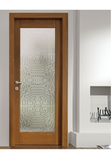 Geam decorativ pentru usa interioara, model LUGANO LINE