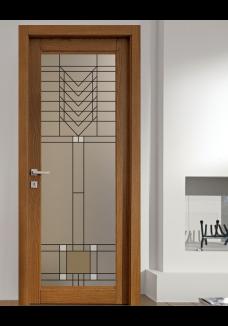 Geam decorativ pentru usa interioara, model ORGANIC
