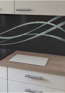 Sticla vopsita bucatarie spiral glitter