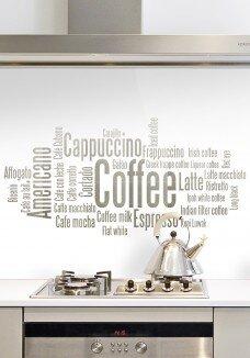Sticla bucatarie COFFEE