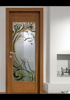 Vitraliu pentru usa interioara din sticla mata