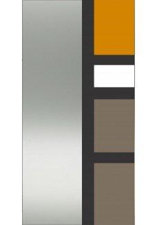 Vitrine sticla vopsita, model Verona