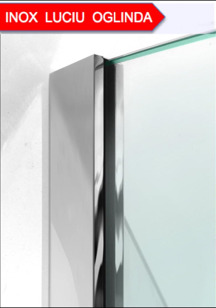 Profil inox Mirror shine, cabina de dus